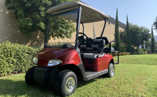 Ezgo Electric Rxv 4 Passenger Golf Cart- Inferno Red