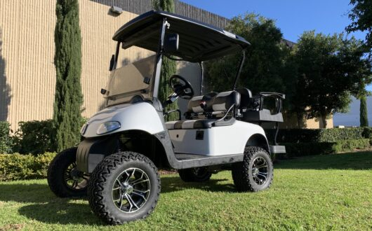 Ezgo Electric Rxv 4 Passenger Golf Cart- Bright White