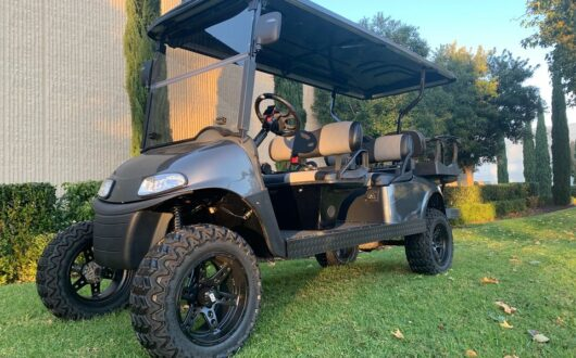 Ezgo Electric Rxv 6 Passenger Golf Cart- Charcoal