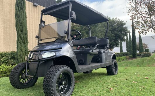 Ezgo Electric Rxv Custom 4 Passenger Golf Cart- Charcoal