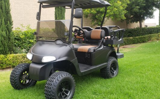 Ezgo Electric Rxv Lifted 4 Passenger Golf Cart- Matte Black