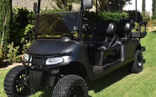 Ezgo Electric Rxv Murdered Out Limo 6 Passenger Golf Cart- Black,#C19