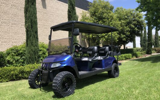 Ezgo Electric Rxv 6 Passenger Limo Stretched Golf Cart- Electric Blue #C31