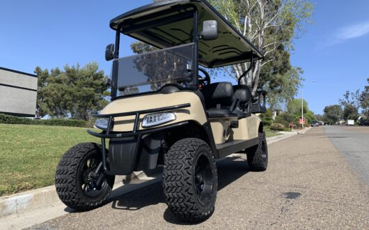 Custom Stretched Out Limo Ezgo Electric Rxv 6 Passenger Golf Cart- Toyota TRD Quicksand, #C12