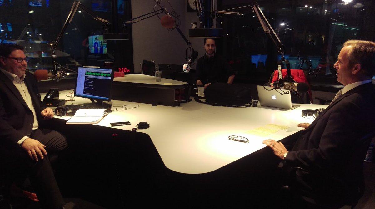 Lindsay Ridell In The CJAD Radio Studio On The Fuller Landau Business Show.