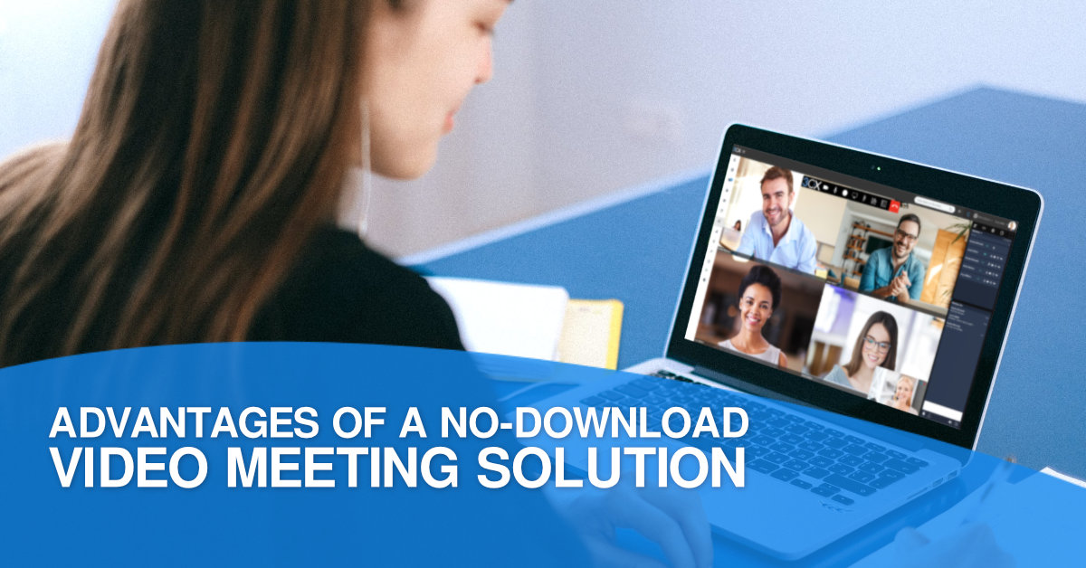 Business Woman Looking At A Laptop With A Virtual Meeting With Her Colleagues - Non Download Video Solutions