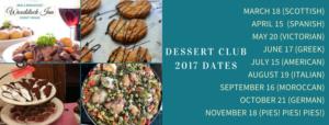 Woodstock Inn Dessert Club dates