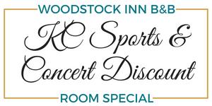 KC Sports & Concerts at Woodstock Inn B&B