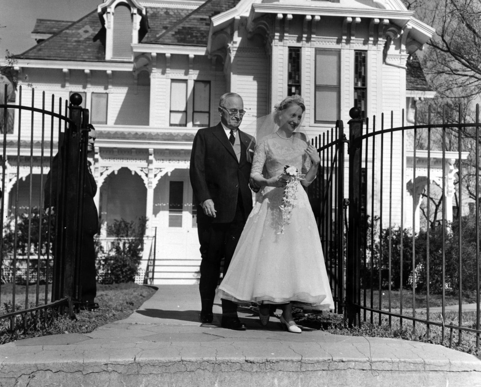 Former-President-Harry-S.-Truman-Escorts-Daughter-Margaret-in-Her-Wedding-Dress
