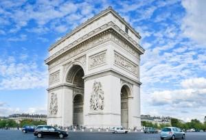 trenes en paris, arco del triunfo