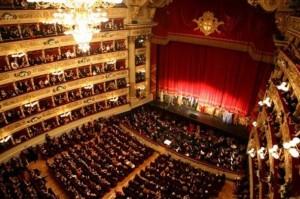 Interior de La Scala de Milan