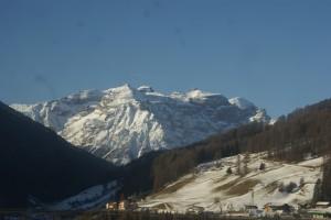 Paso de Brenner por los Alpes