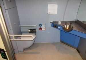 Baño para pasajeros con movilidad reducida