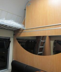 Estante para equipajes, Compartimento camas cerradas