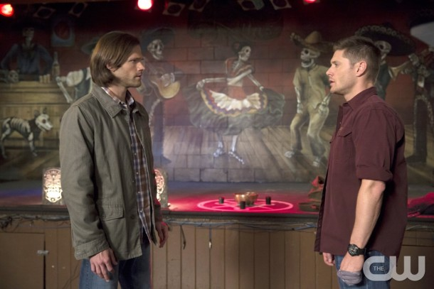 """Supernatural -- """"Brother's Keeper"""" -- Image SN1022B _0213 -- Pictured (L-R): Jared Padalecki as Sam and Jensen Ackles as Dean -- Photo: Katie Yu/The CW -- © 2015 The CW Network, LLC. All Rights Reserved."""