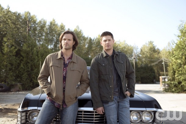 """Supernatural -- """"Thin Lizzie"""" -- Image SN1105a_0002 -- Pictured (L-R) Jared Padalecki as Sam and Jensen Ackles as Dean -- Photo: Katie Yu/The CW -- © 2015 The CW Network, LLC. All Rights Reserved."""
