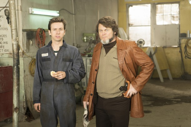 FARGO -- ÒFear and TremblingÓ -- Episode 204 (Airs November 2, 10:00 pm e/p) Pictured: (l-r) Daniel Beirne as Sonny Greer, Nick Offerman as Karl Weathers.  CR: Chris Large/FX
