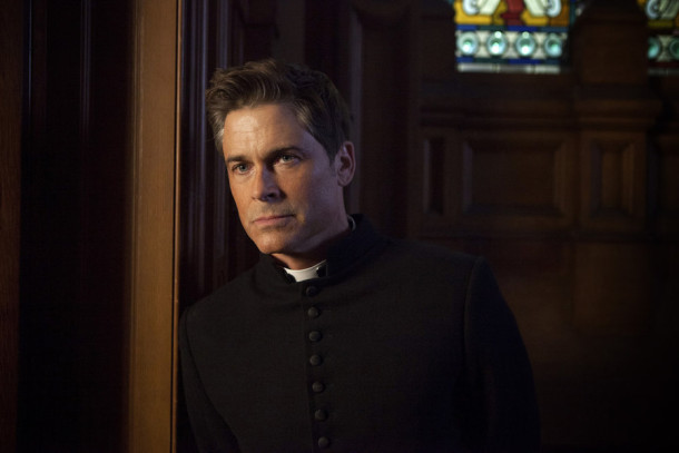 """YOU, ME AND THE APOCALYPSE -- """"Who Are These People?"""" Episode 101 -- Pictured: Rob Lowe as Father Jude Sutton -- (Photo by: Ed Miller/WTTV Productions Limited)"""
