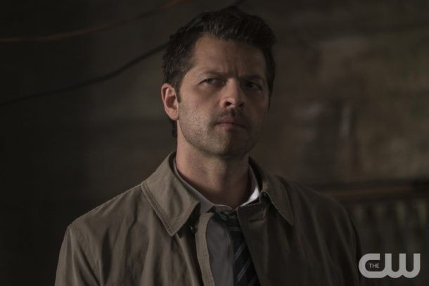"""Supernatural -- """"Mamma Mia"""" -- SN1202b_0123.jpg -- Pictured: Misha Collins as Castiel -- Photo: Katie Yu/The CW -- © 2016 The CW Network, LLC. All Rights Reserved"""