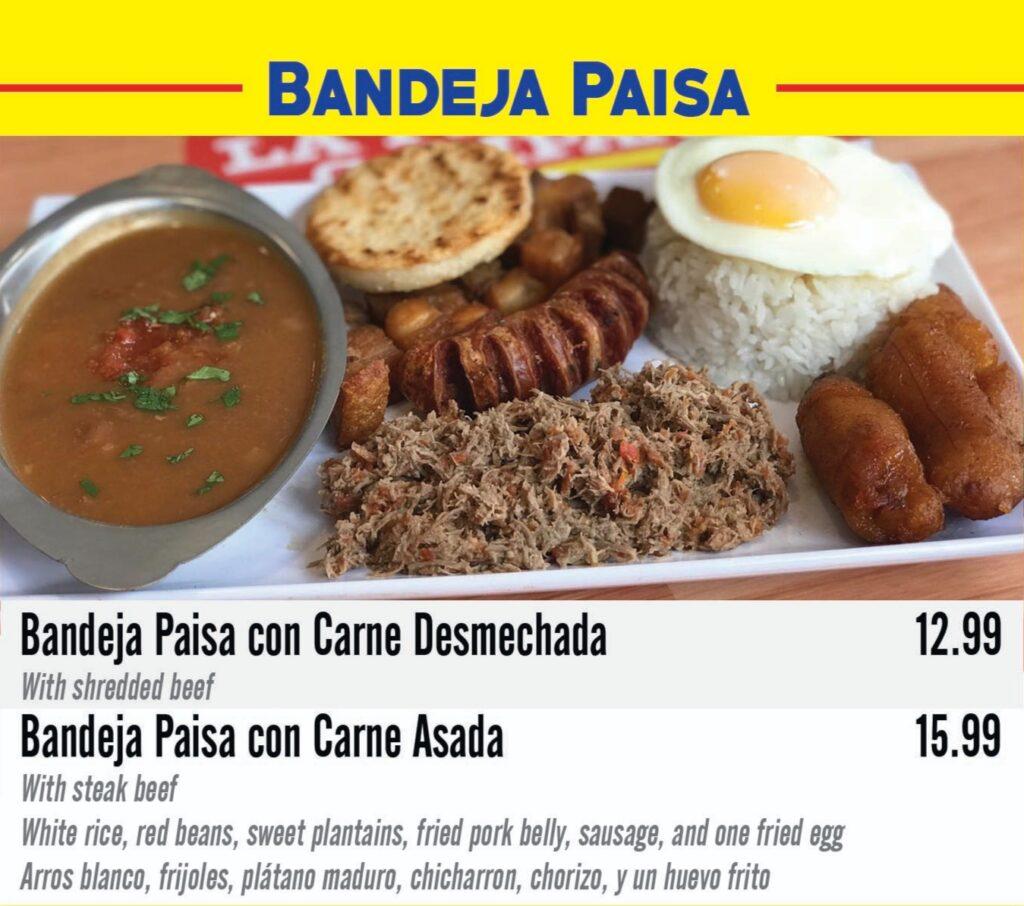 Specialties Bandeja paisa
