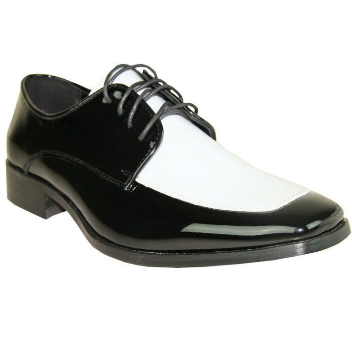 Bravo Black and Whit Tuxedo Shoe