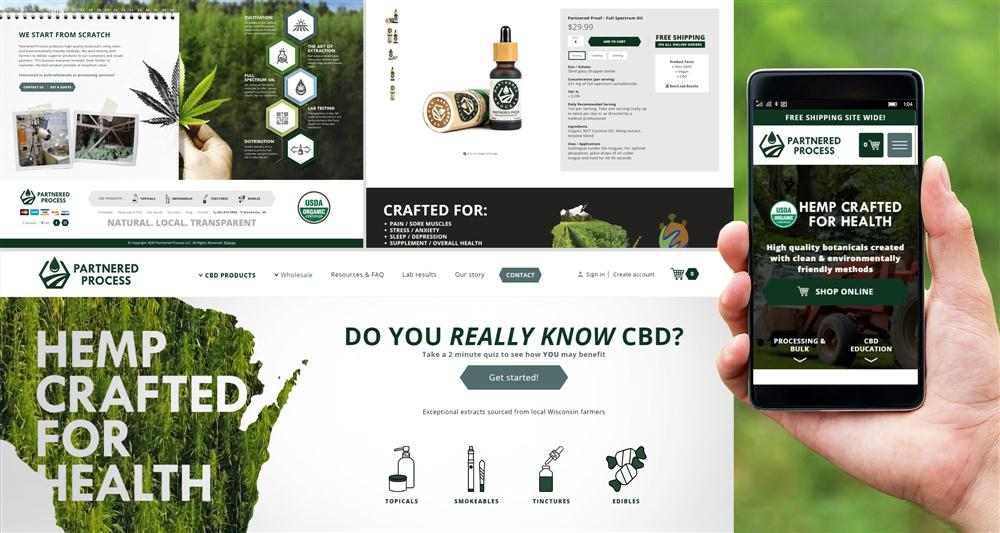 Partnered Process, CBD Store and Manufacturing