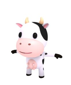cow cartoon 3d character