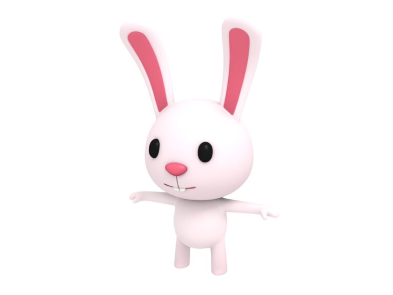 rabbit cartoon 3d character