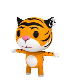 tiger cartoon 3d model