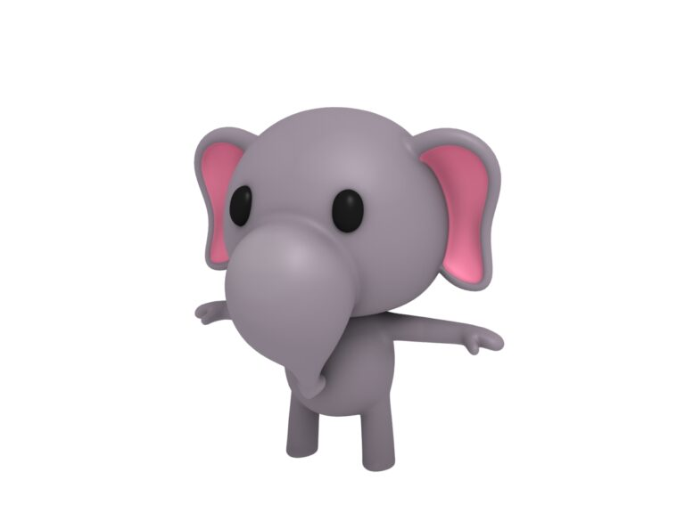 elephant 3d cartoon model