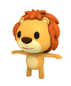 lion 3d cartoon character