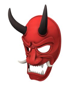 Japanese Demon Mask 3d model