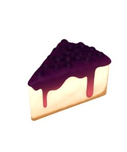 Blueberry Cheesecake 3d model