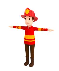 CartoonMan037-Firefighter