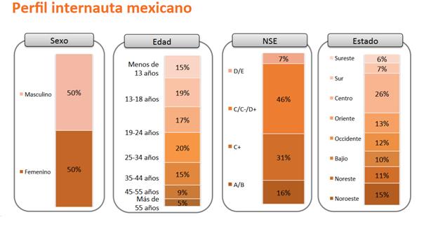 Perfil del internauta en México