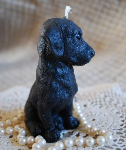 Beeswax Black Dog Candle