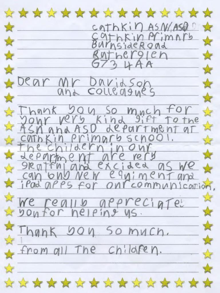 Cathkin Primary Letter 210915 (2)