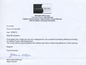 Cathkin Primary Letter 210915