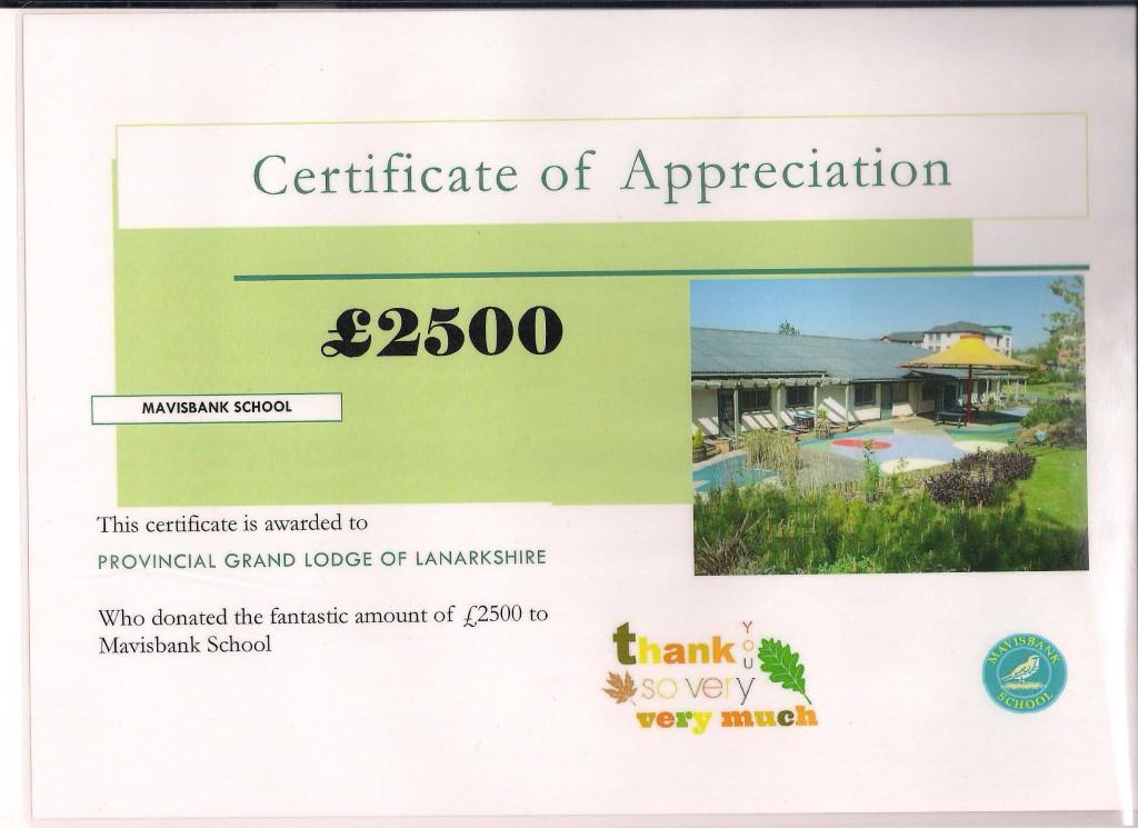 Thank you letter - Mavisbank 2 200915