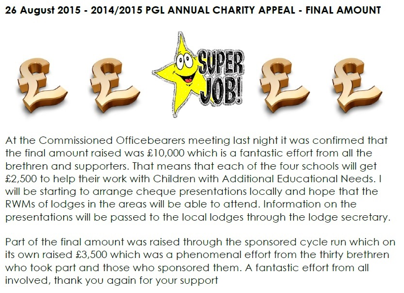 Charity Appeal August 2015