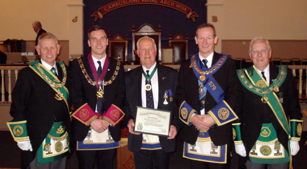 Cambuslang Royal Arch 60yr Diploma 160915