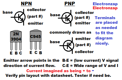 How to read schematic diagrams 04 basic bipolar junction transistor symbol