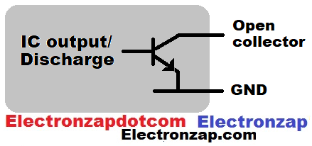 Open collector output discharge terminal illustrated diagram by electronzap electronzapdotcom