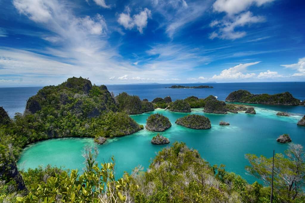 Pianemo Island or Penemu Island in Raja Ampat, West Papua, Indonesia by dive liveaboard