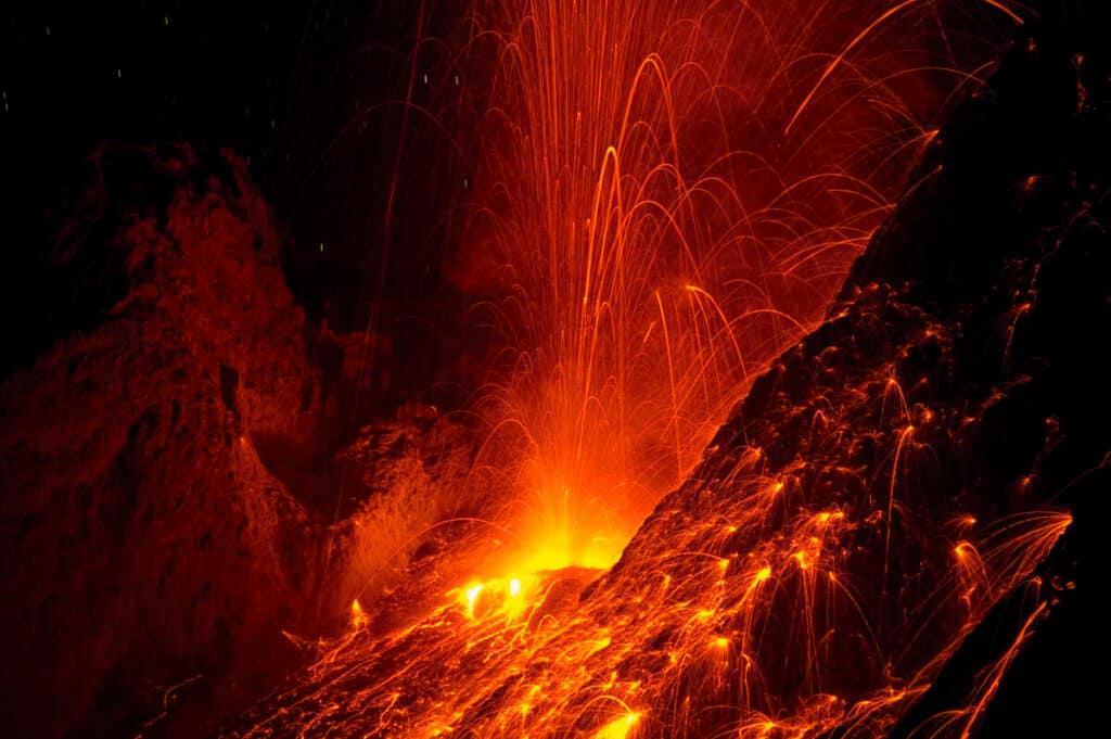 Mount Batu Tara, Komba Island active volcano