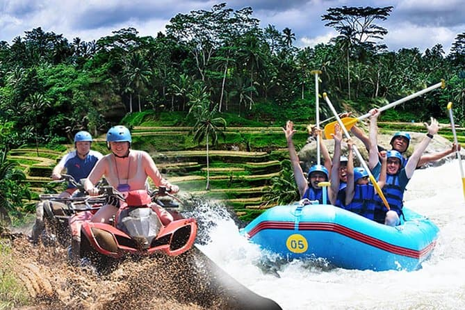 White water rafting in Bali and riding 4-wheeler through the countryside