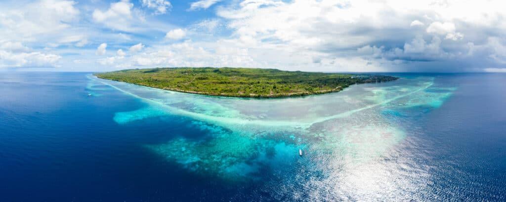 Wakatobi Drone Shot from dive vacation aboard Pelagian Liveaboard