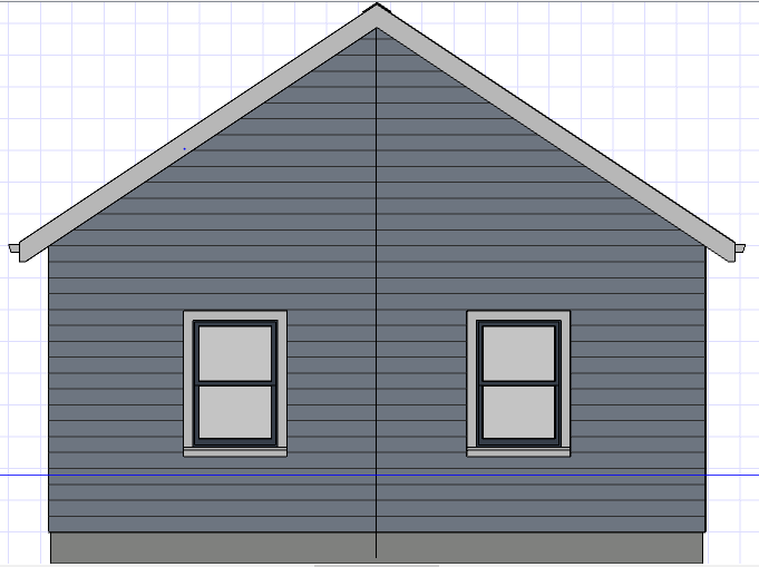The vertical line in the center of the gable represents the string that every framing member must remain parallel with.
