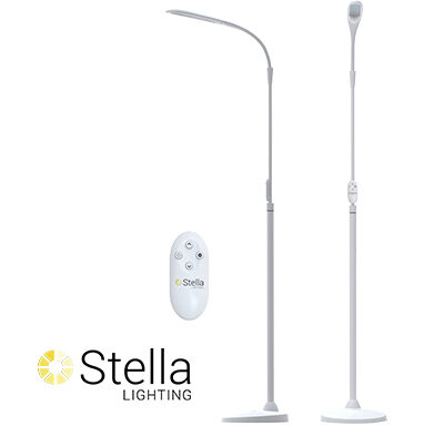 Stella Sky Two Floor Lamp with 2 Remotes (Optelec)