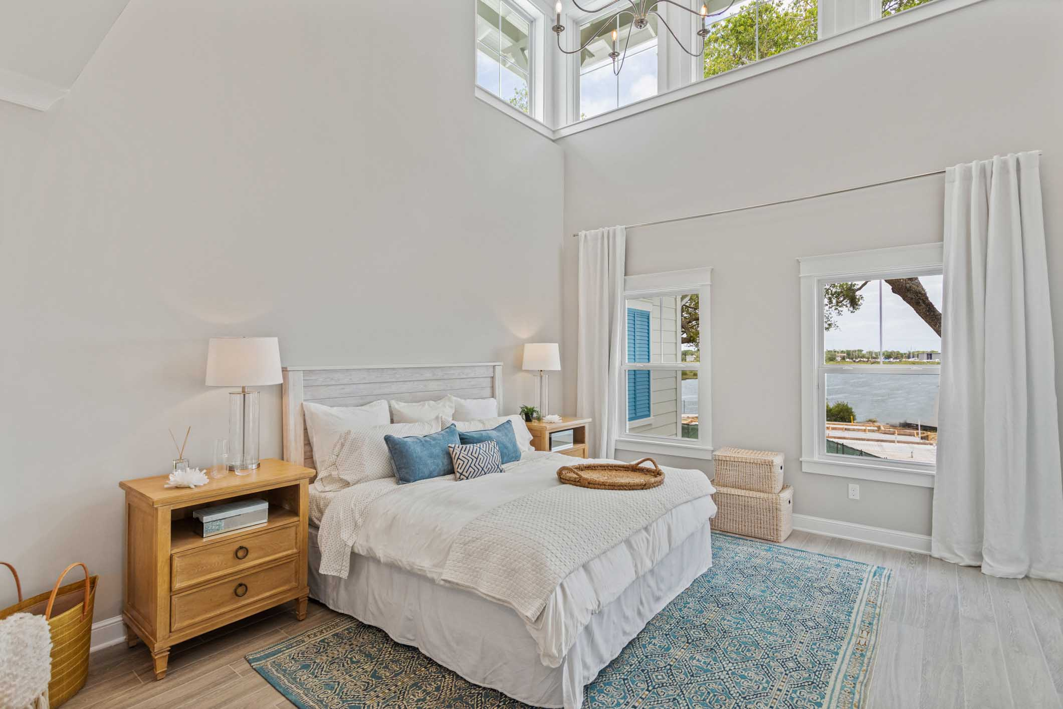 Interior view of master bedroom at VIlla Calissa